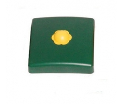 Plastic pole cover  90 mm green