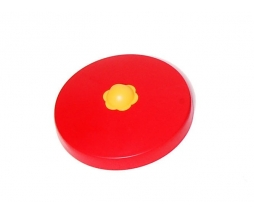 Plastic pole cover ROUND 100 mm červená