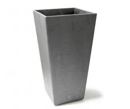 Gumový kvetináč Sonata 70 - svetlo šedá