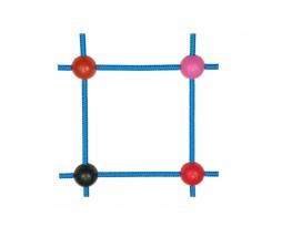 Lanová spojka krížová pr. 13 mm čierna