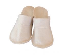 Papuče do sauny - dámske UK39 - biele