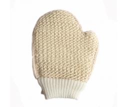 Masážna rukavica so sisalovou dlaňou