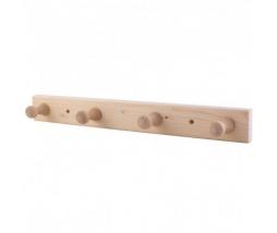 HARVIA vešiak drevený  4x háčik